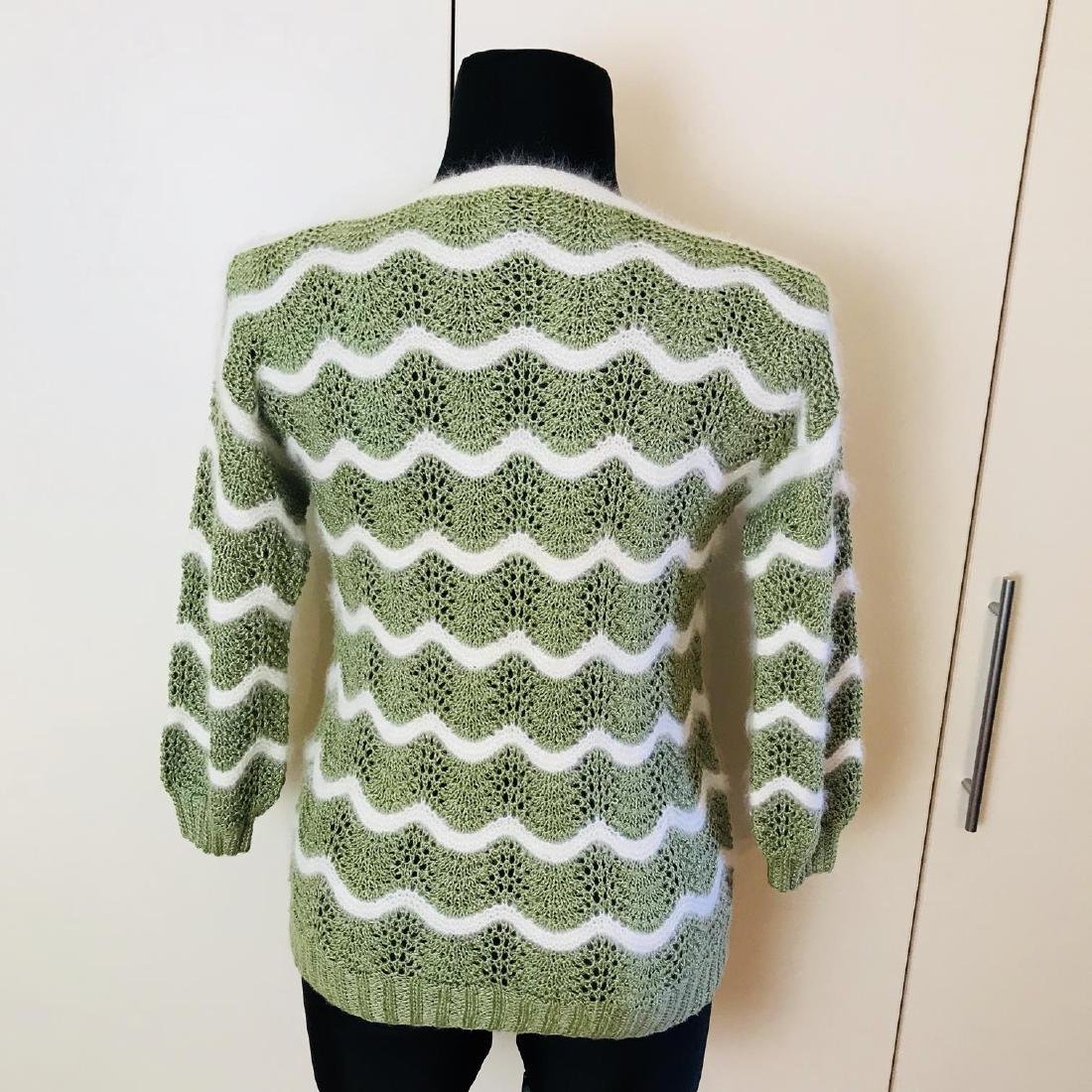 Vintage Women's Green Sweater Size EUR 38 US 8 - 5