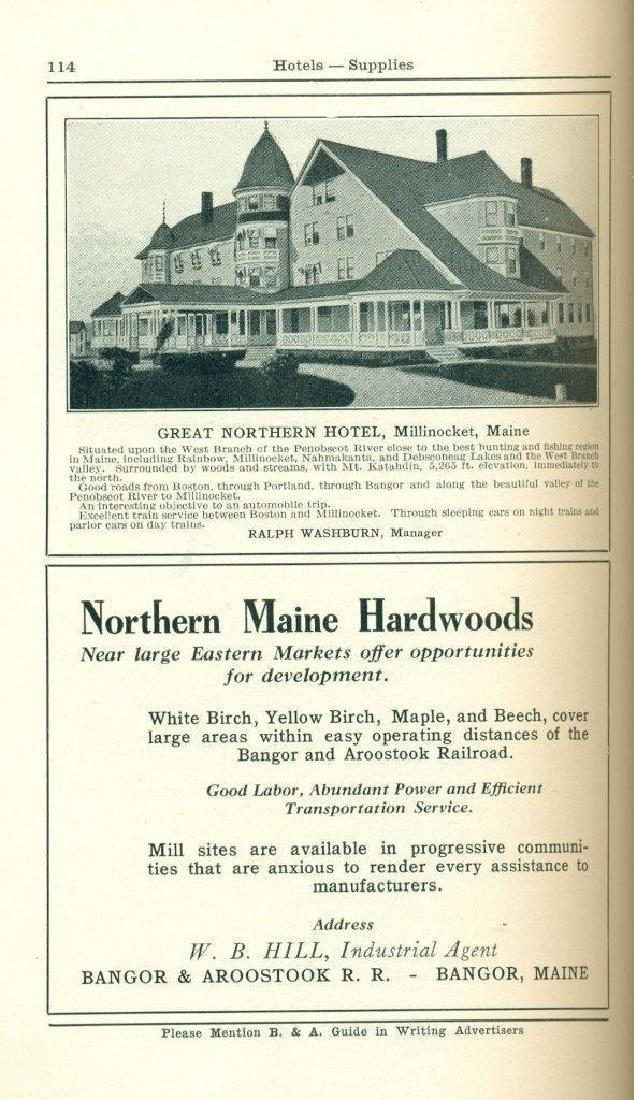 1929 IN THE MAINE WOODS by BANGOR & AROOSTOOK RAILROAD - 5