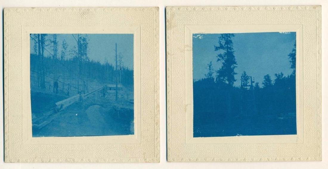 LOT of 6, c1890 WESTERN CYANOTYPE MINING OPERATION - 5