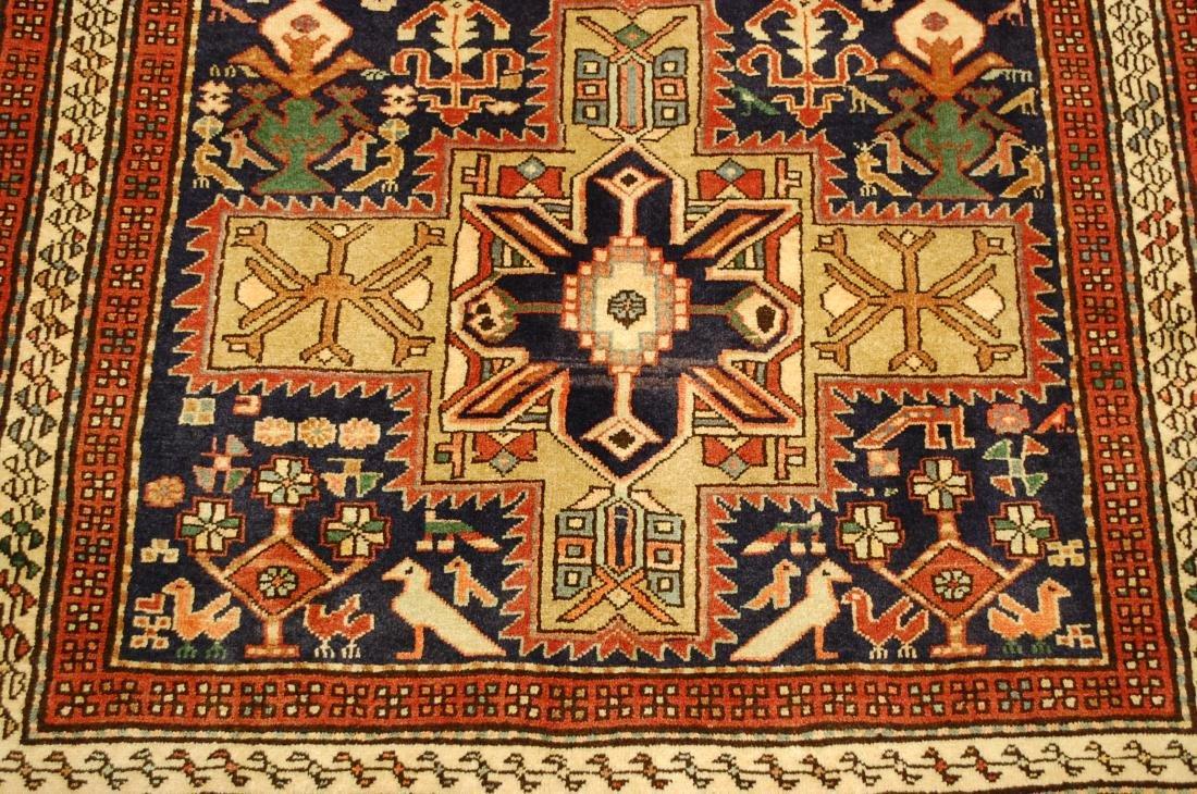 Antique Caucasian Kazak Shirvan Design Rug 3.9x10.7 - 10