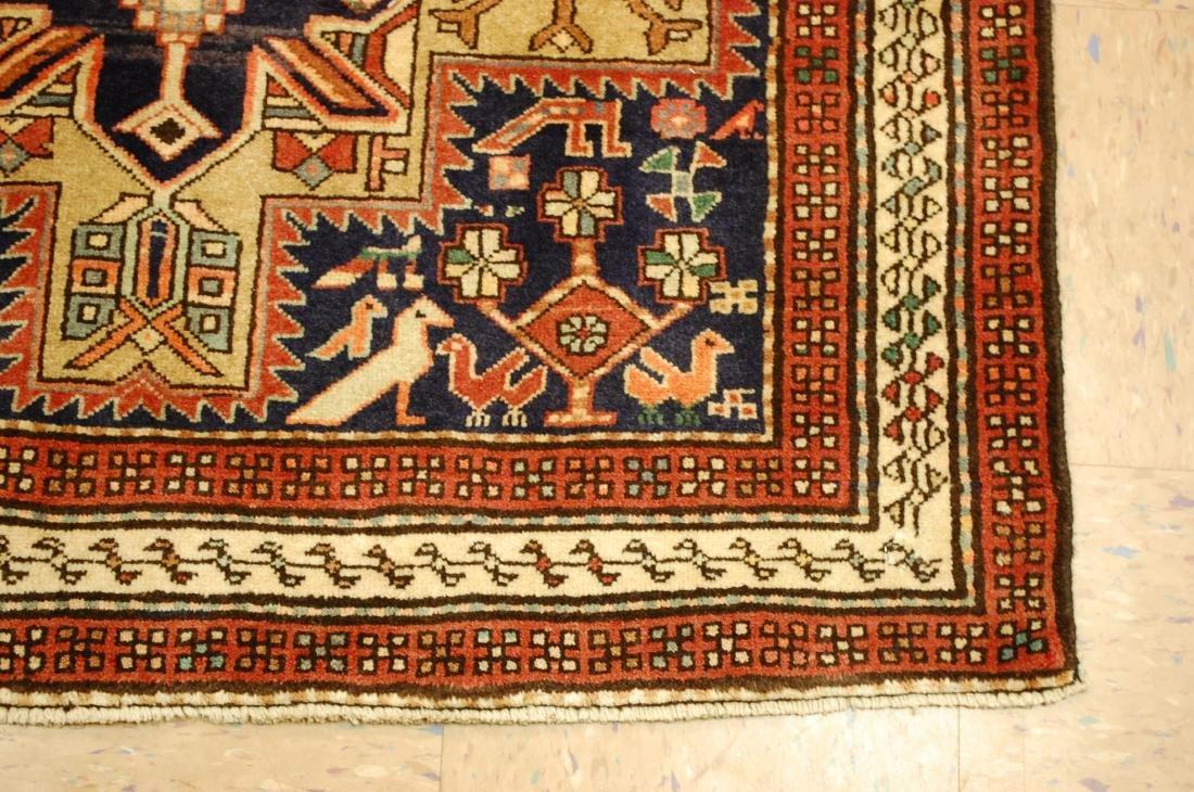Antique Caucasian Kazak Shirvan Design Rug 3.9x10.7 - 2