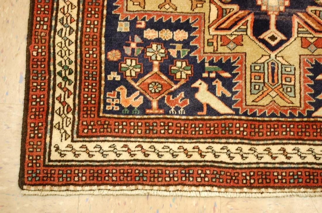 Antique Caucasian Kazak Shirvan Design Rug 3.9x10.7 - 3