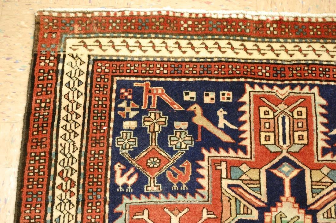 Antique Caucasian Kazak Shirvan Design Rug 3.9x10.7 - 4