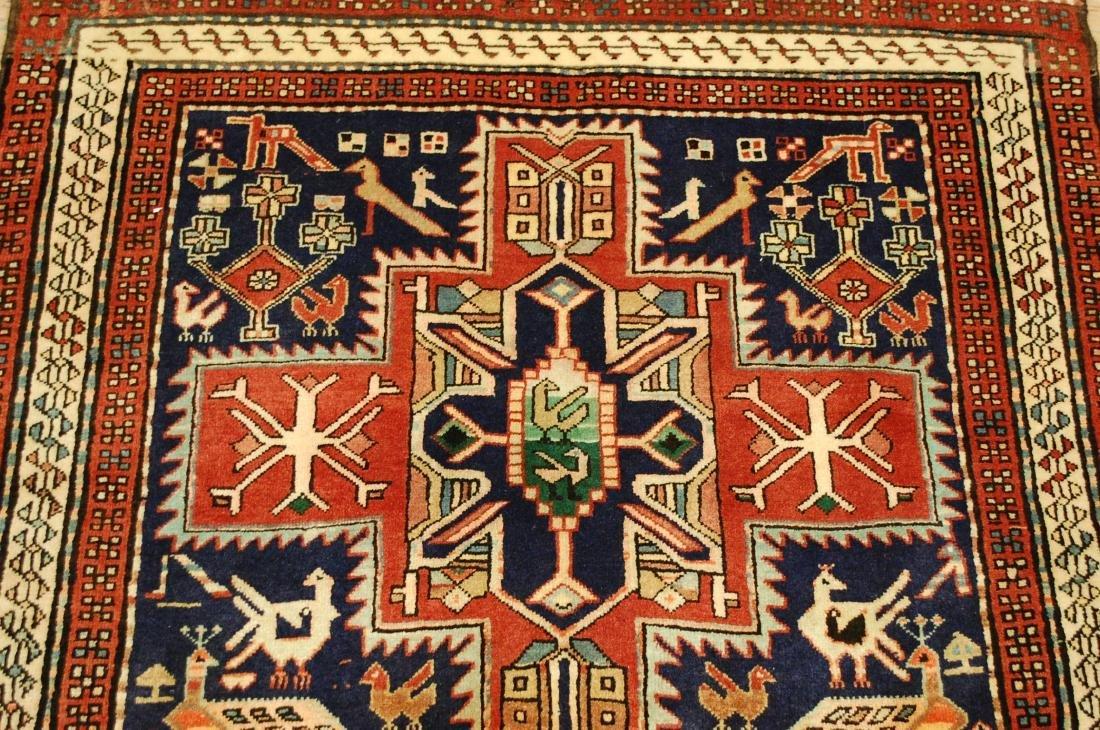 Antique Caucasian Kazak Shirvan Design Rug 3.9x10.7 - 5