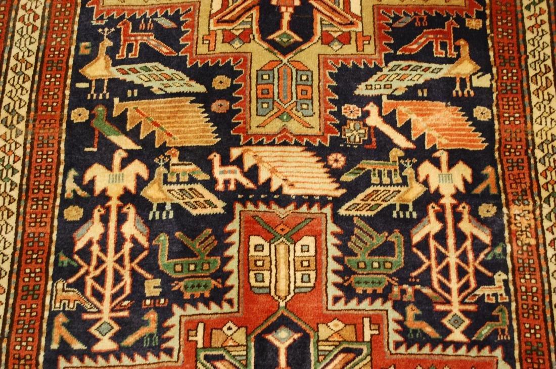 Antique Caucasian Kazak Shirvan Design Rug 3.9x10.7 - 6