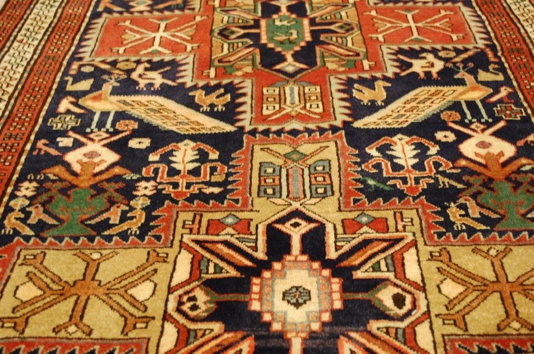 Antique Caucasian Kazak Shirvan Design Rug 3.9x10.7 - 7