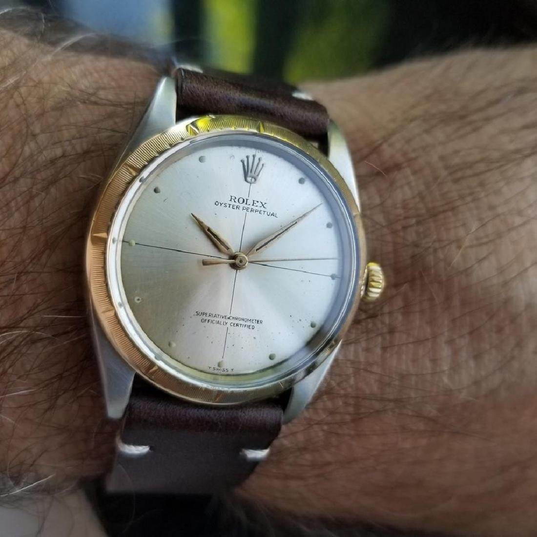 ROLEX Men's 18K and SS Oyster Perpetual 1008 Zephyr - 10