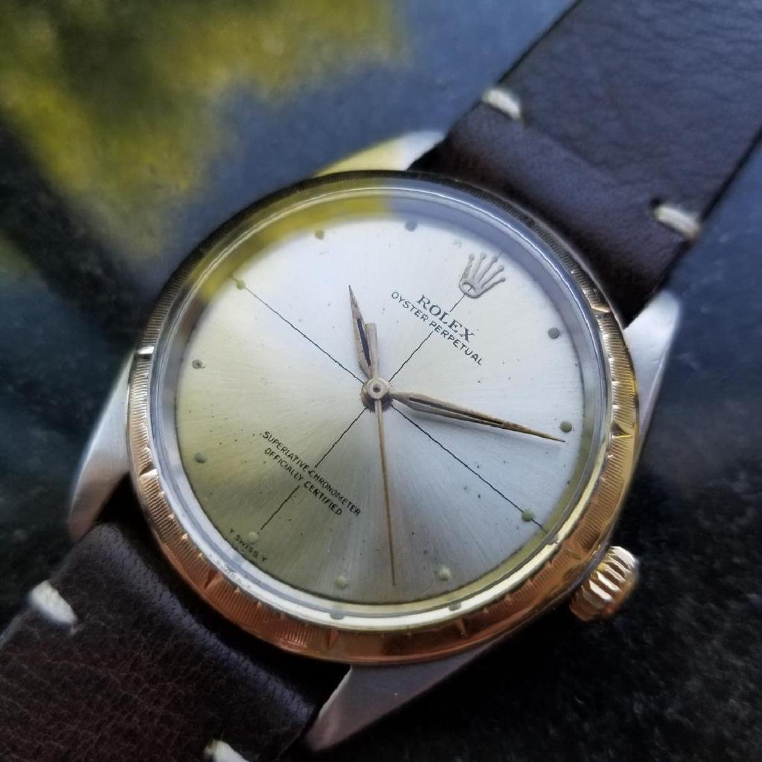 ROLEX Men's 18K and SS Oyster Perpetual 1008 Zephyr