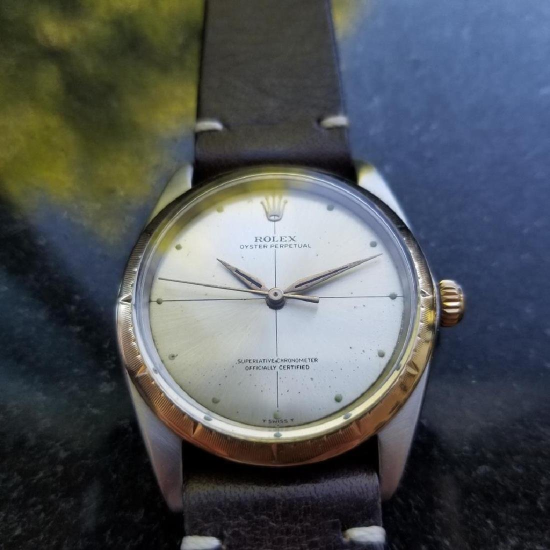 ROLEX Men's 18K and SS Oyster Perpetual 1008 Zephyr - 3