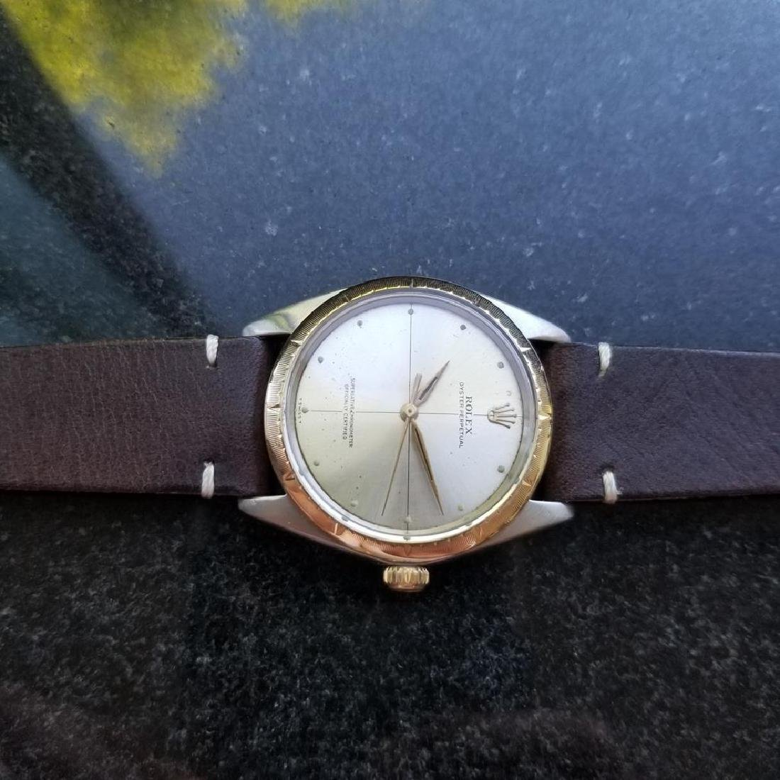 ROLEX Men's 18K and SS Oyster Perpetual 1008 Zephyr - 5