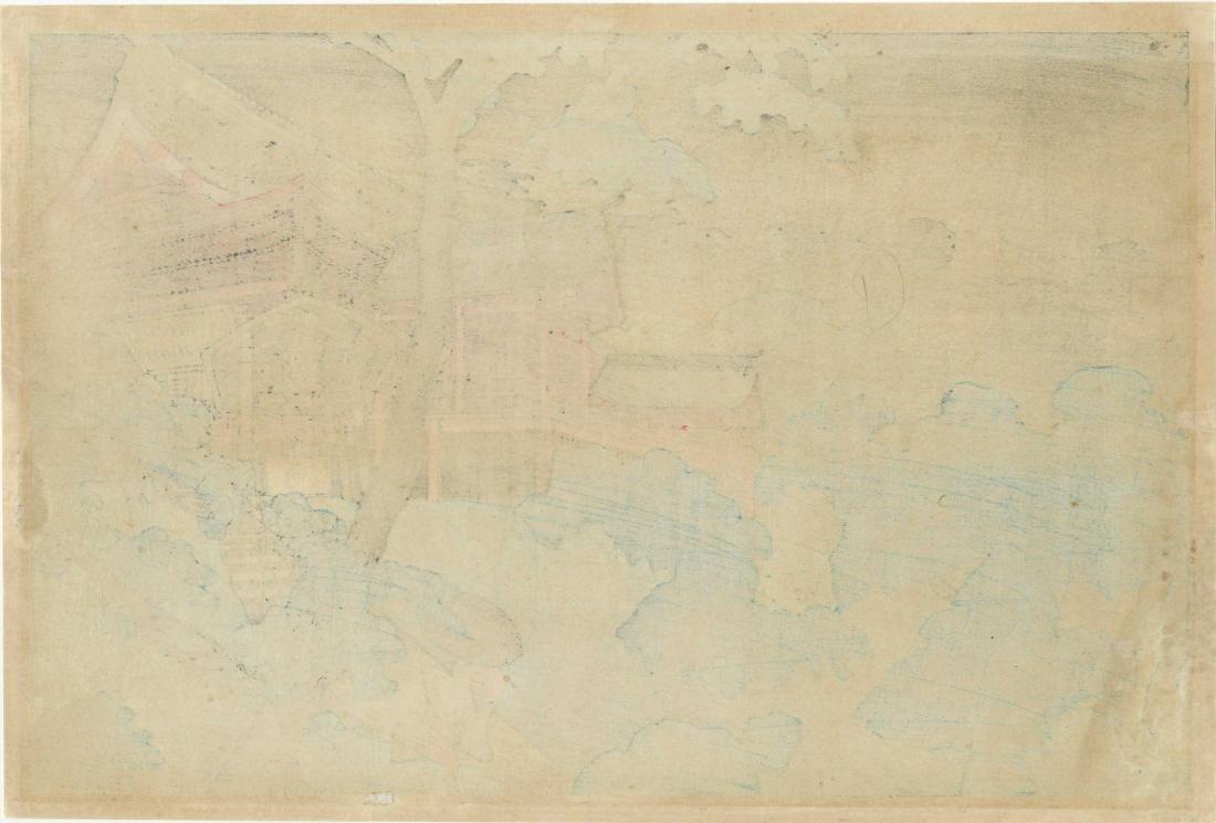 Shotei Takahashi (Hiroaki) Woodblock Kiyomizu Temple in - 2