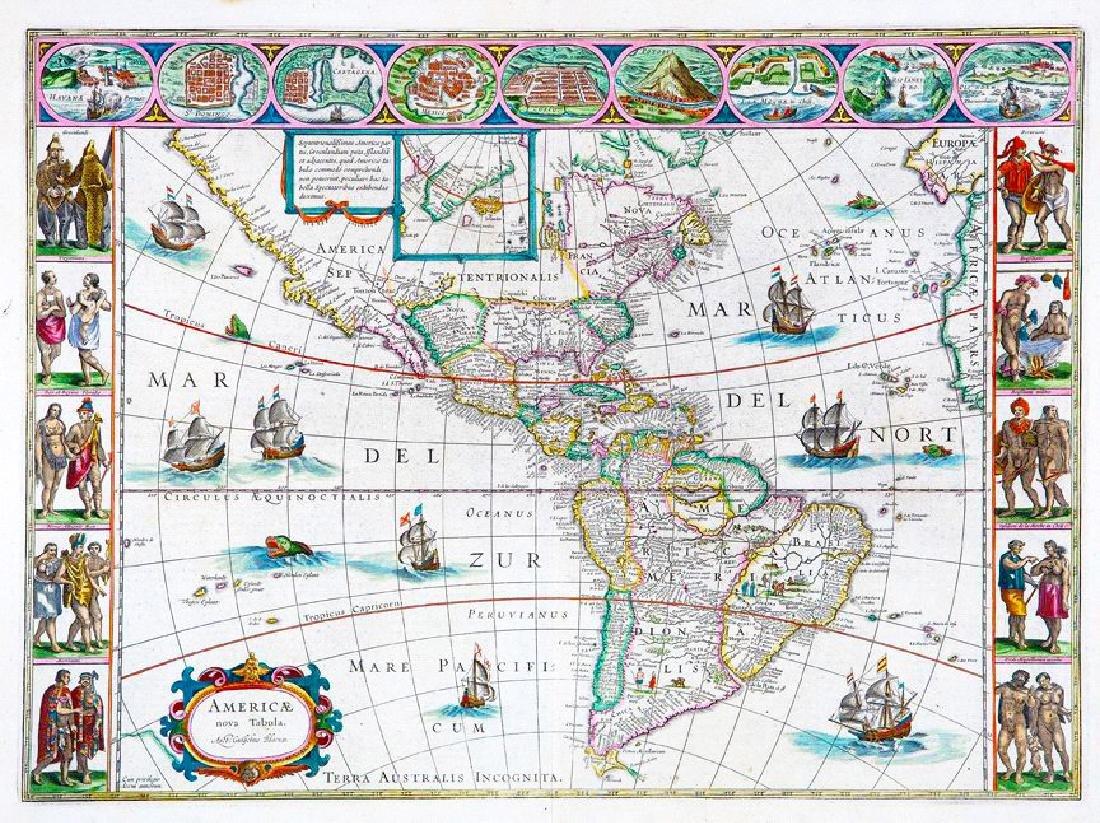 Blaeu: Landmark Map of the Americas