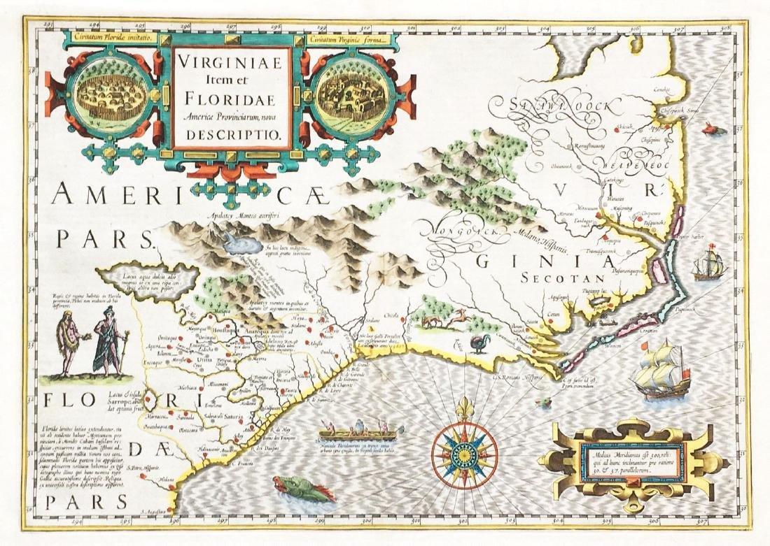 Mercator/Hondius: Virginia and Florida