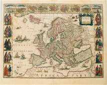 Blaeu Map of Europe  Europa Recens Descripta