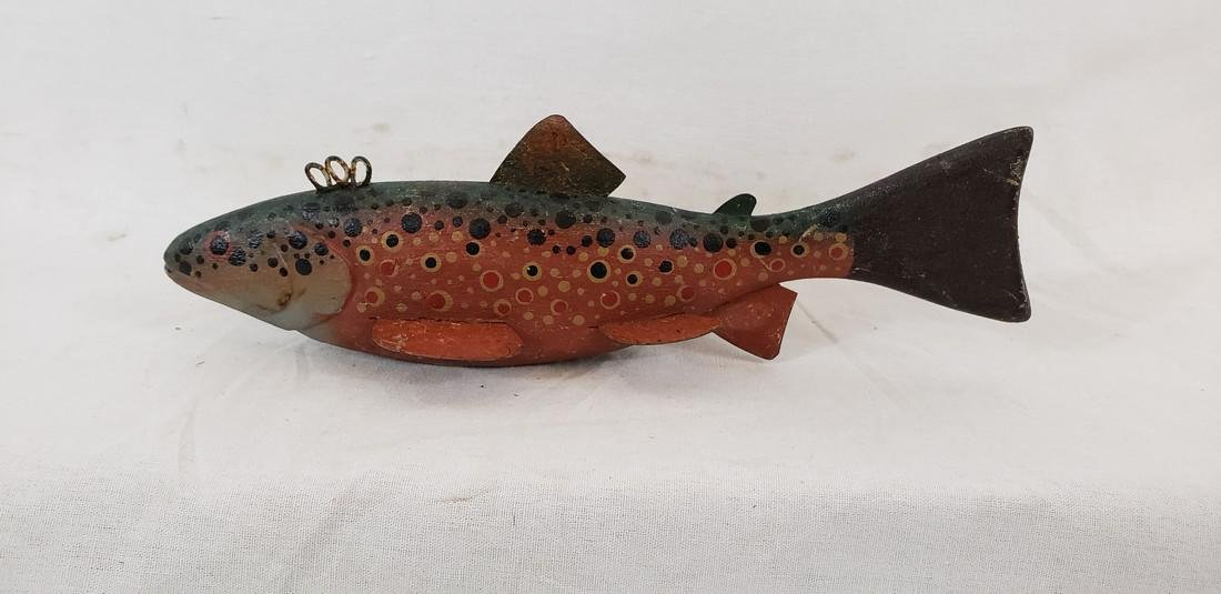 Outstanding Brook or Speckled Trout Fish Decoy Ca