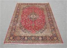 Handmade Semi Antique Persian Kashan Rug 113x88