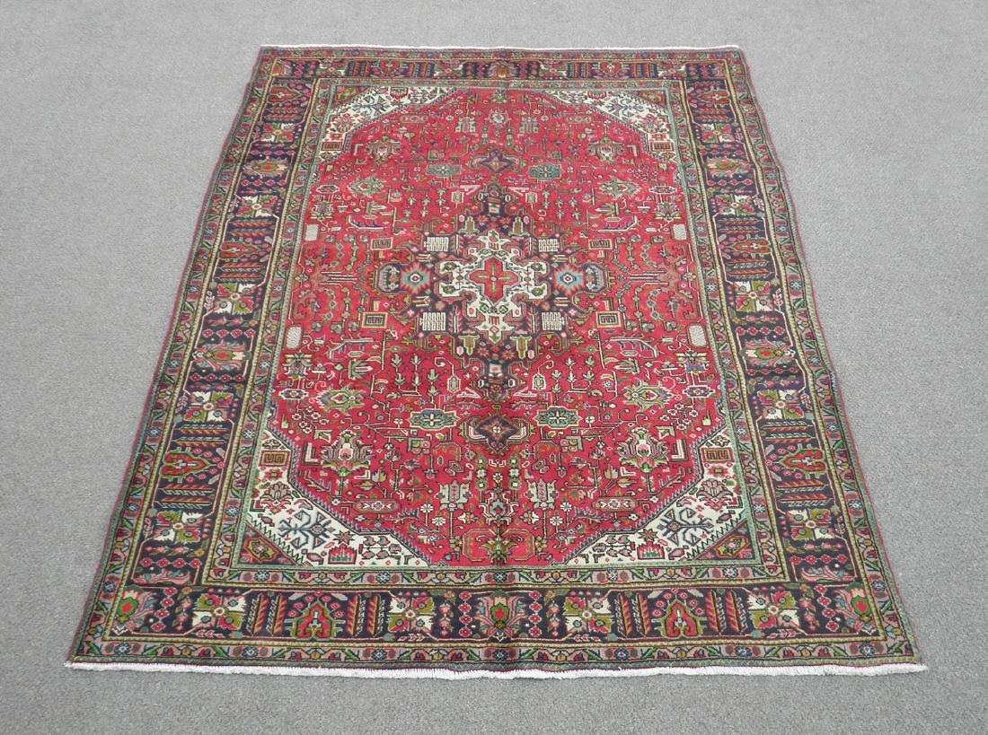 Fascinating Semi Antique Persian Tabriz Rug 9.5x6.4