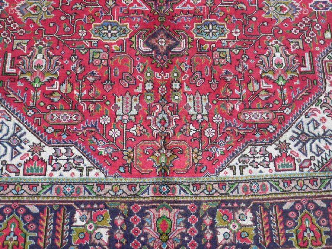 Fascinating Semi Antique Persian Tabriz Rug 9.5x6.4 - 4
