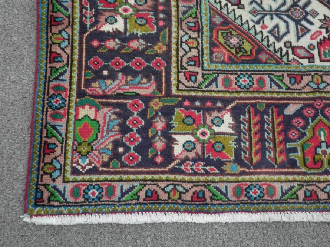 Fascinating Semi Antique Persian Tabriz Rug 9.5x6.4 - 7