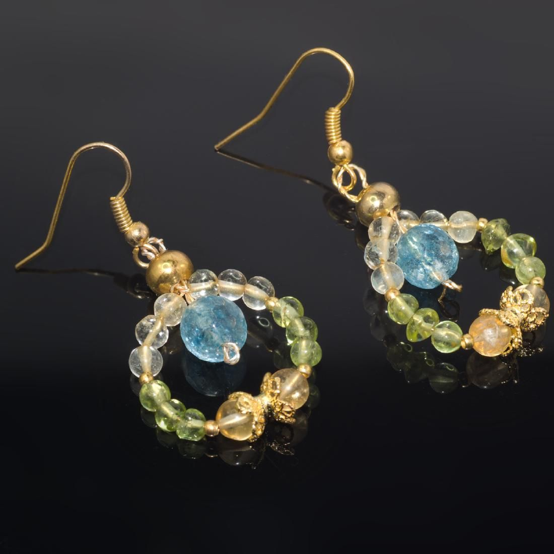 Multi-Gemstone 'Fairy Tail' Earrings