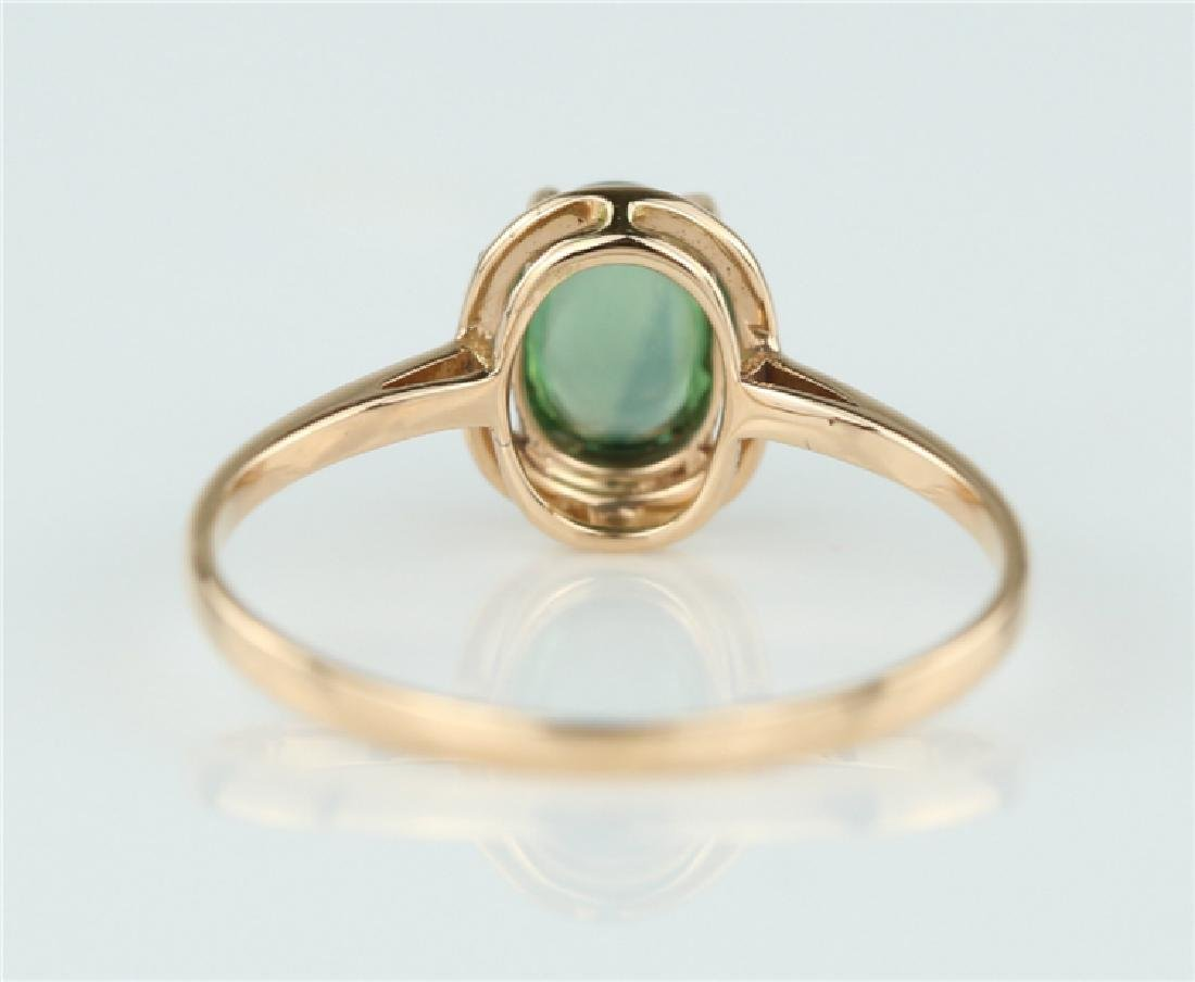 Tourmaline ring with 18K gold - 4