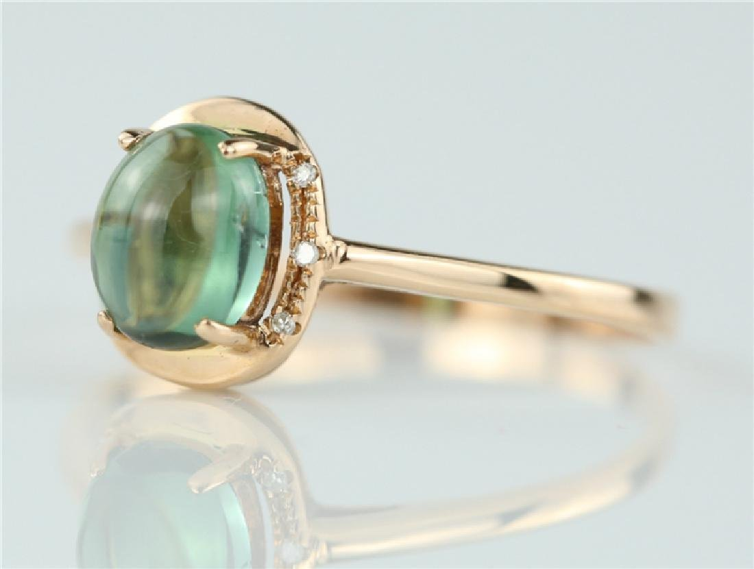 Tourmaline ring with 18K gold - 5