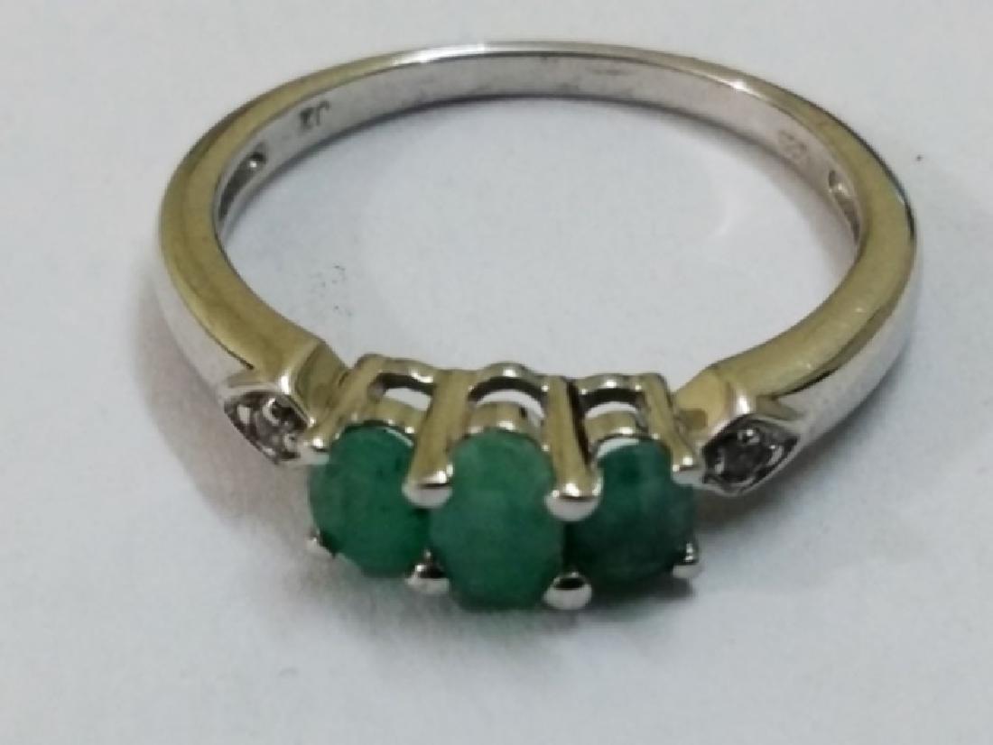Green Emerald Ring