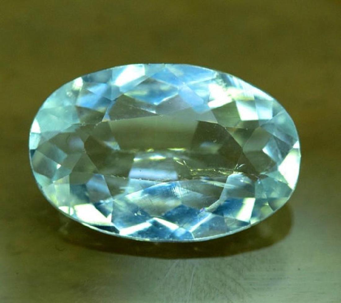 9.65 CTS Oval Cut Natural Untreated Aquamarine Gemstone - 2
