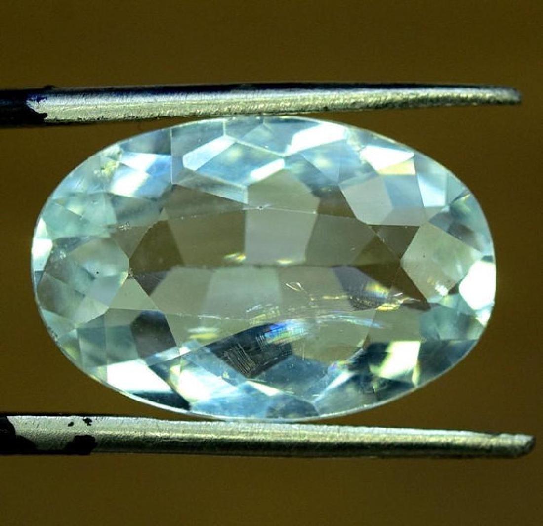 9.65 CTS Oval Cut Natural Untreated Aquamarine Gemstone - 3