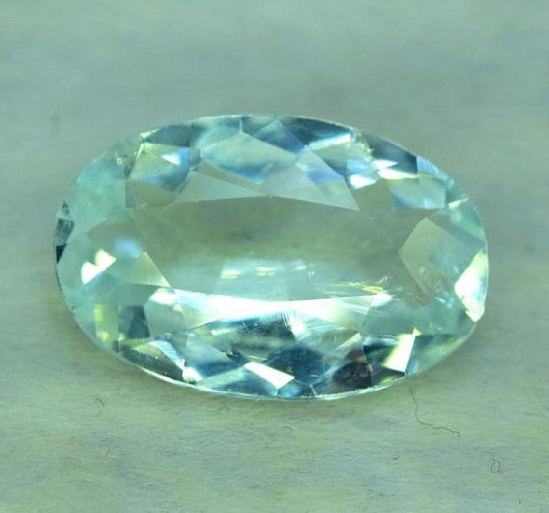 9.65 CTS Oval Cut Natural Untreated Aquamarine Gemstone - 4