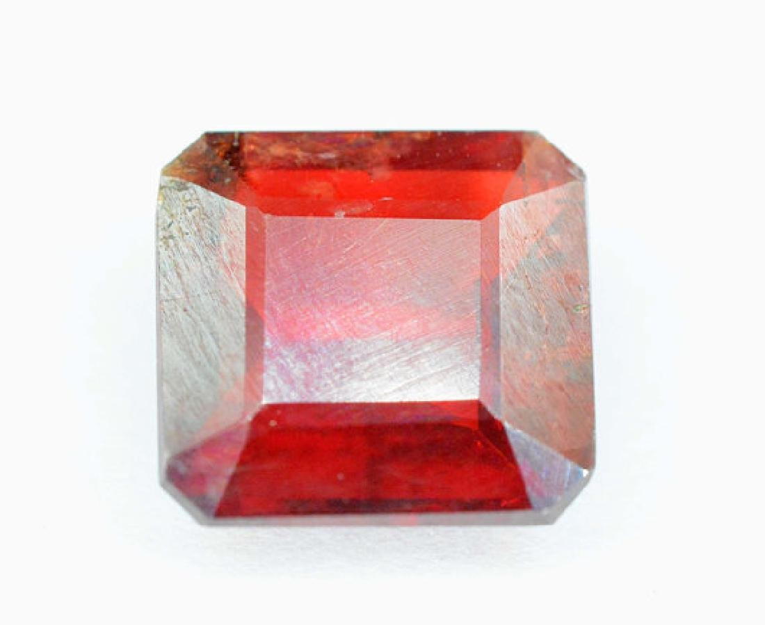 5.55 Carats Extremely Rare Octogan Cut Blood Color