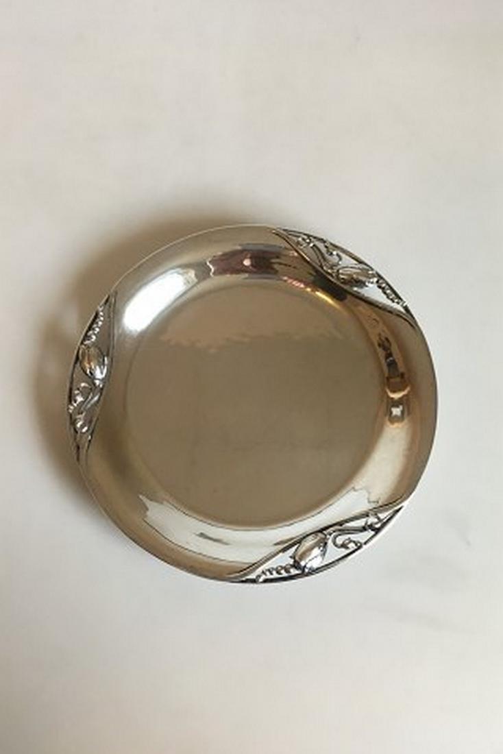Georg Jensen Sterling Silver Blossom Round Tray # 2B