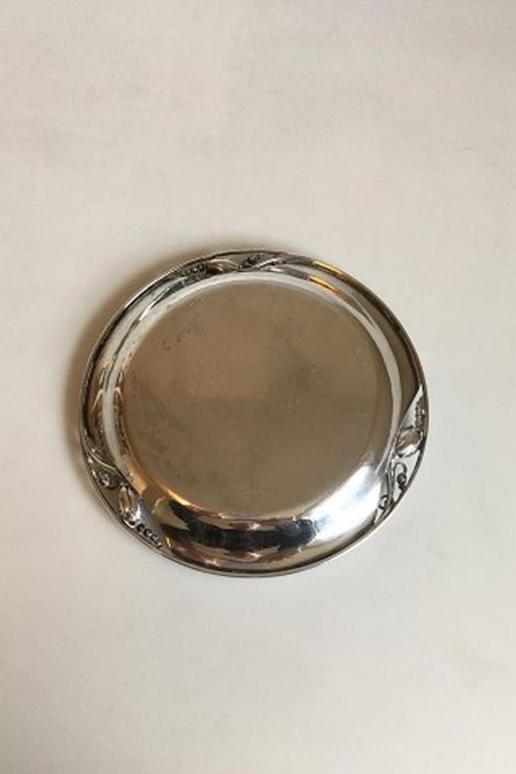 Georg Jensen Sterling Silver Blossom Round Tray # 2B - 3