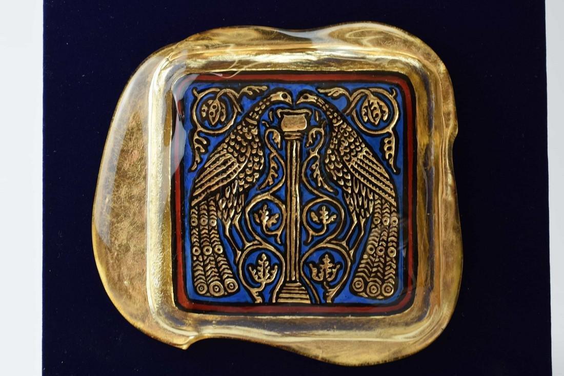 Ferro Lorenzo - Murano glass gold leaf image - 3