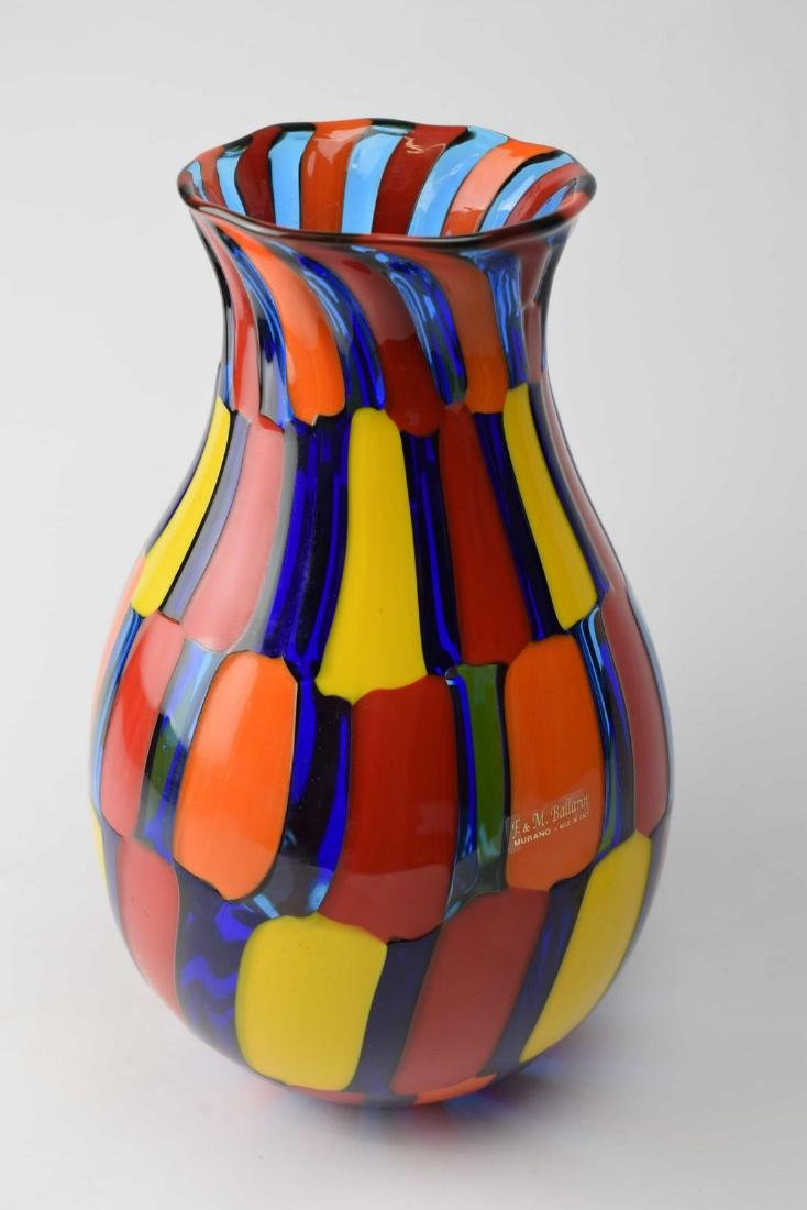 Angelo Ballarin - Murano glass vase pezzato Signed - 2