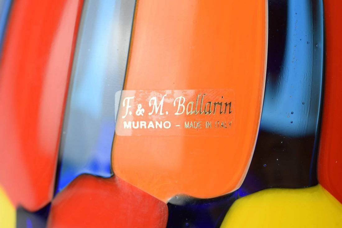 Angelo Ballarin - Murano glass vase pezzato Signed - 3