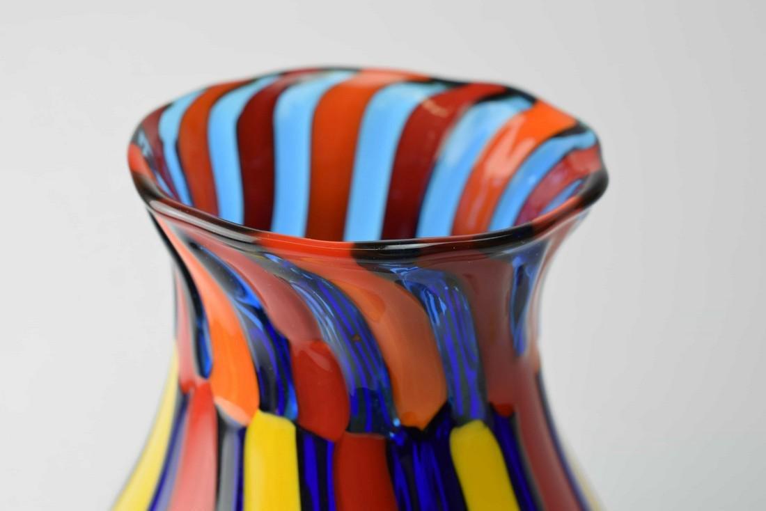 Angelo Ballarin - Murano glass vase pezzato Signed - 4