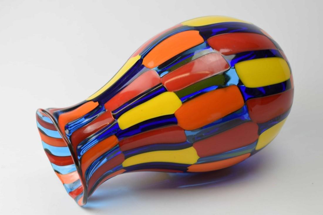 Angelo Ballarin - Murano glass vase pezzato Signed - 5