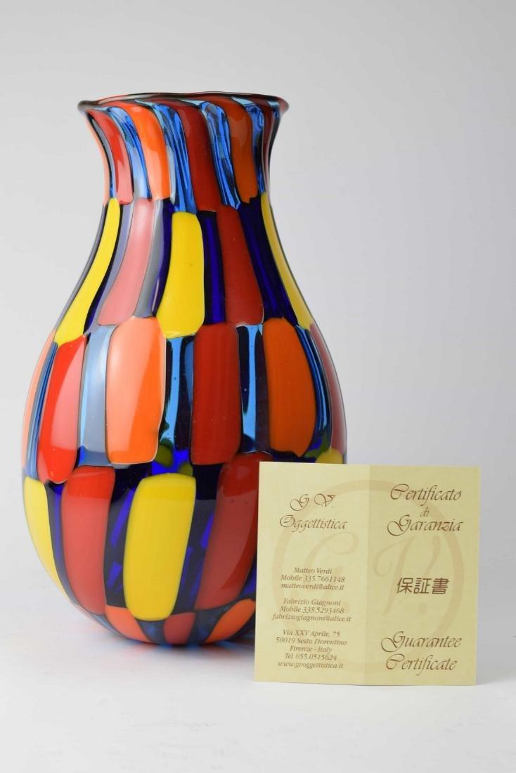 Angelo Ballarin - Murano glass vase pezzato Signed - 7