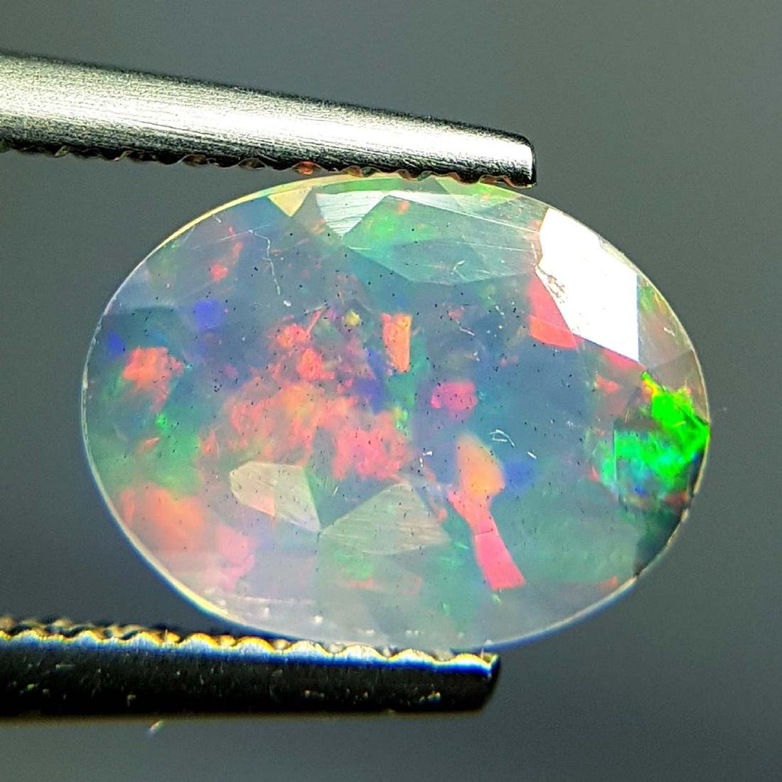 Top Fire Oval Cut Natural Opal  - 1.04 ct