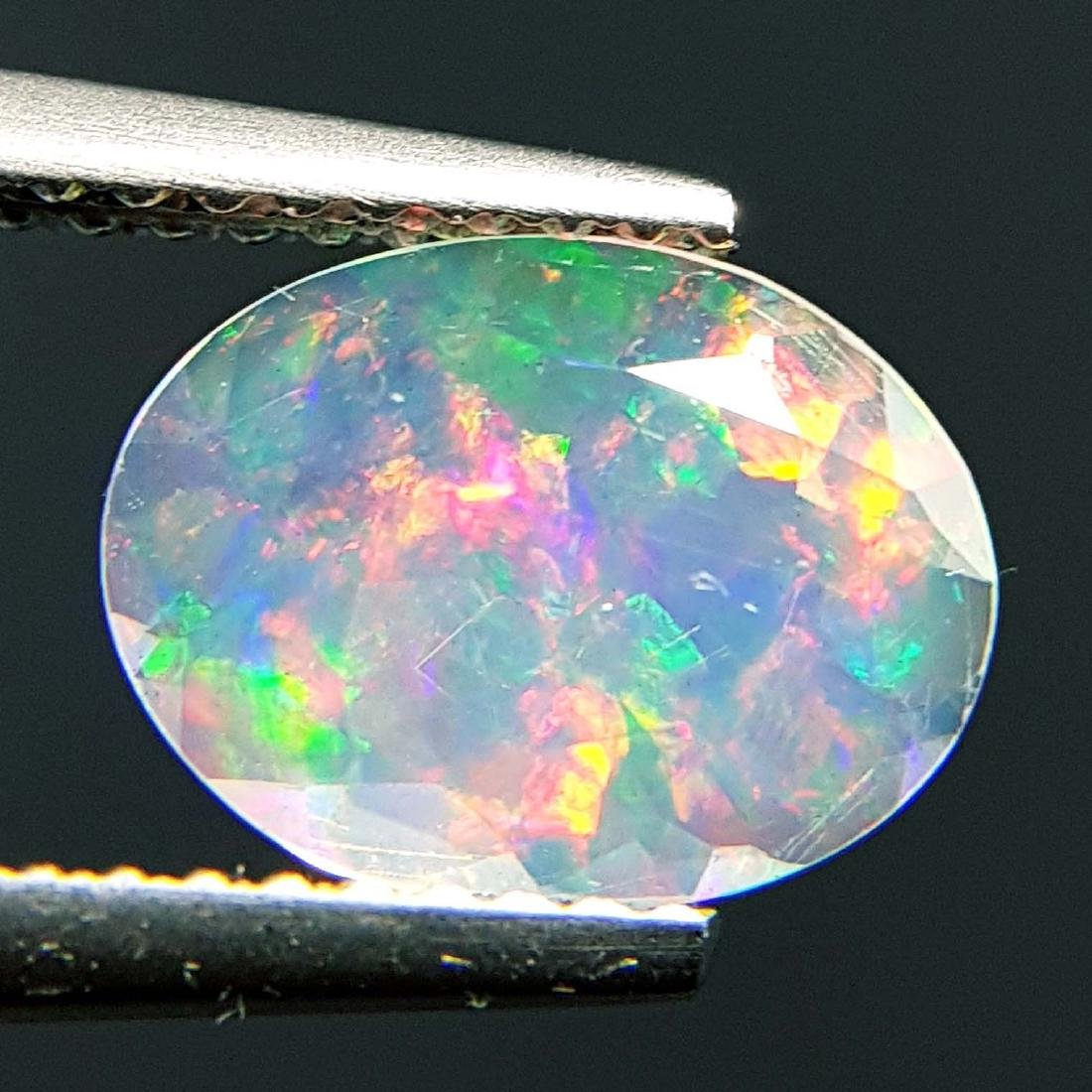 Top Fire Oval Cut Natural Opal  - 1.04 ct - 6