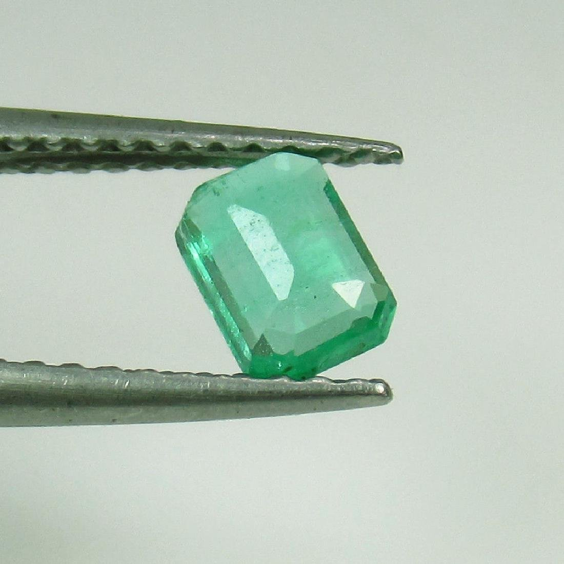 0.42 Ct Genuine Loose Zambian Emerald Nice Octagon cut - 2