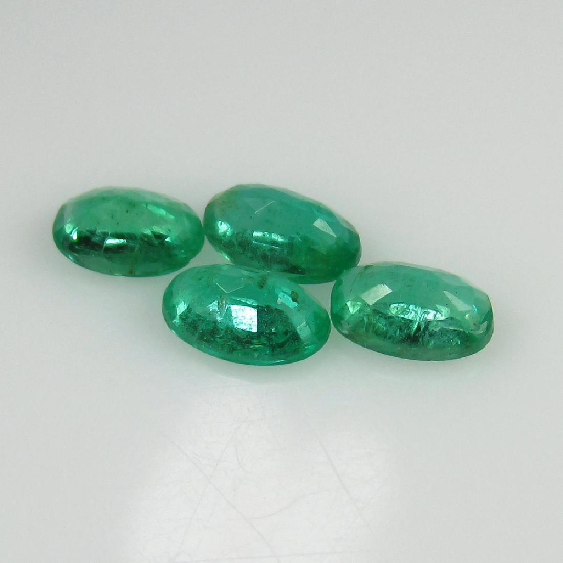 1.00 Ct Genuine 3 Loose Zambian Emerald Matching Oval - 2