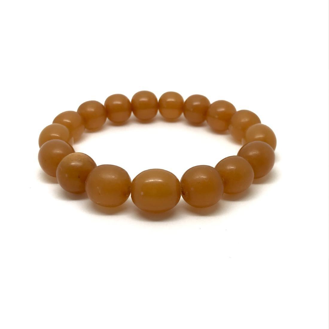 Vintage bracelet Baltic amber butterscotch beads