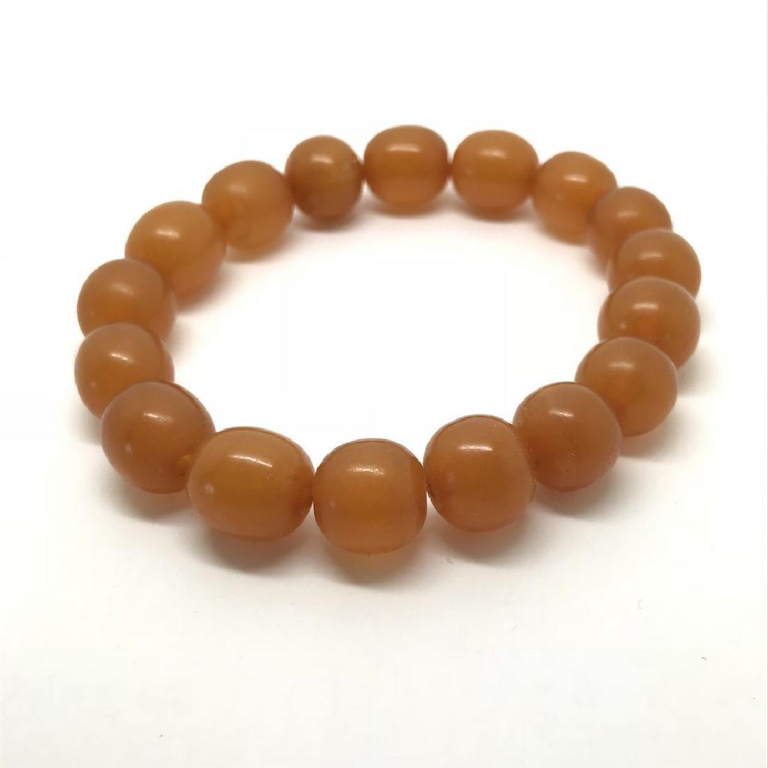 Vintage bracelet Baltic amber butterscotch beads - 3