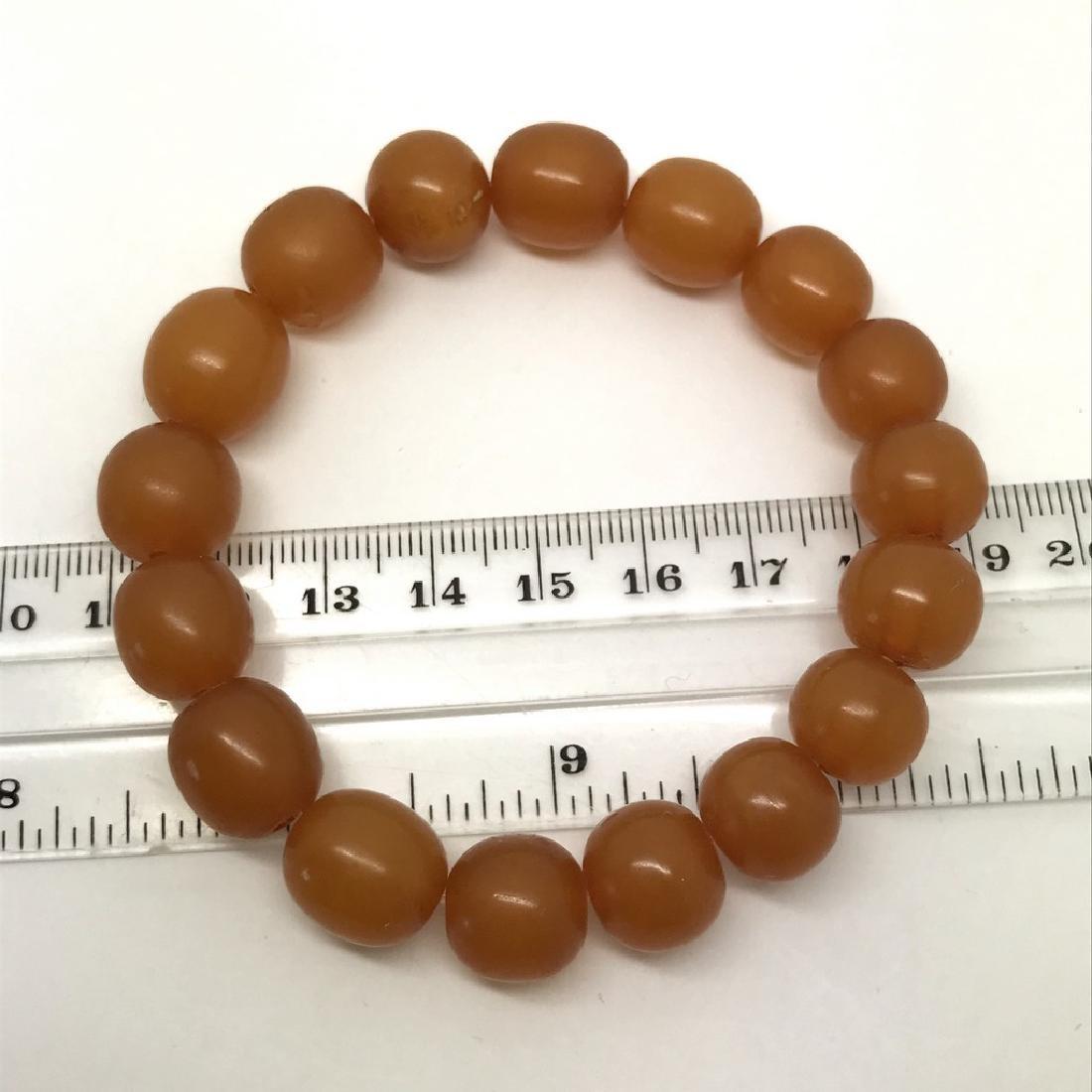 Vintage bracelet Baltic amber butterscotch beads - 4