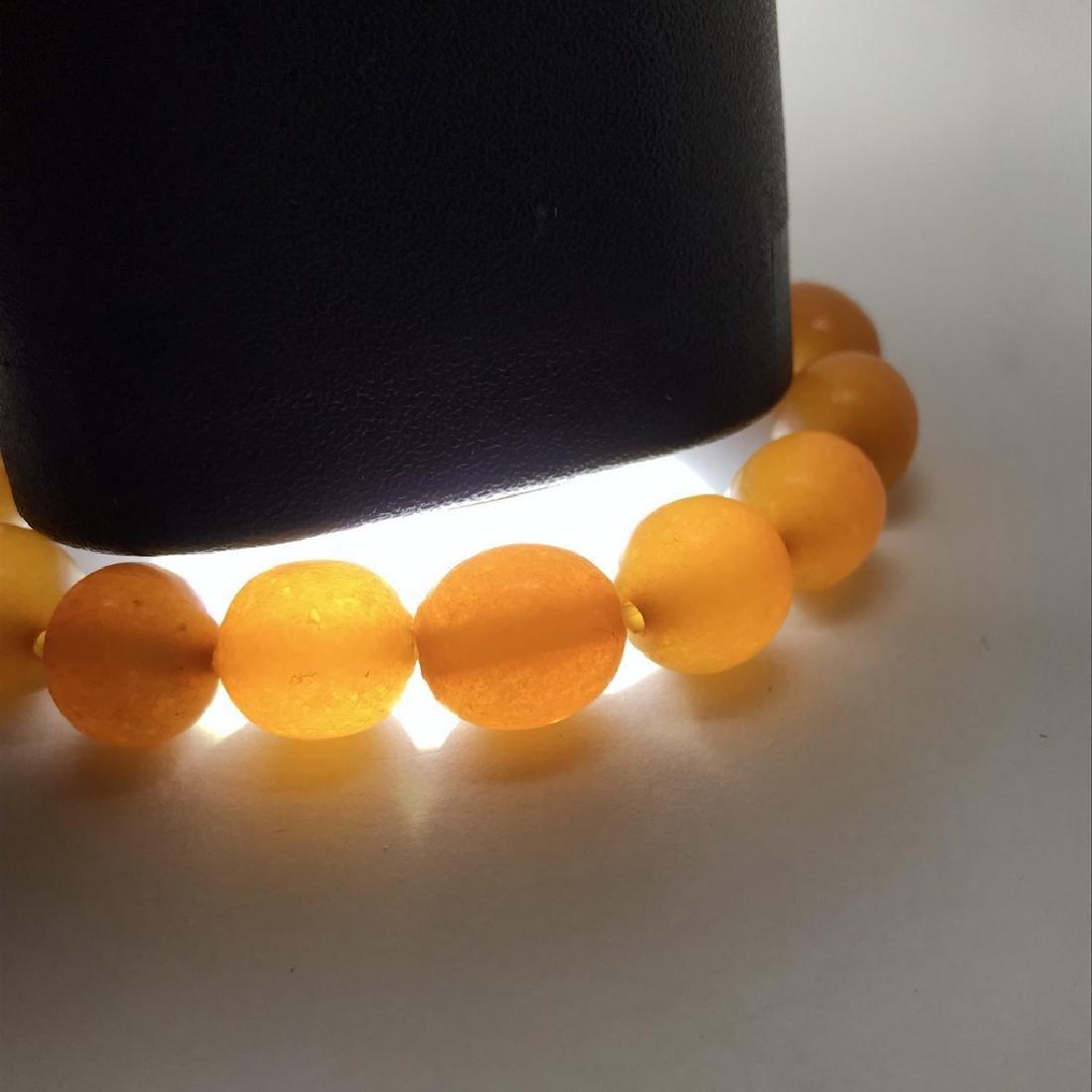 Vintage bracelet Baltic amber butterscotch beads - 5