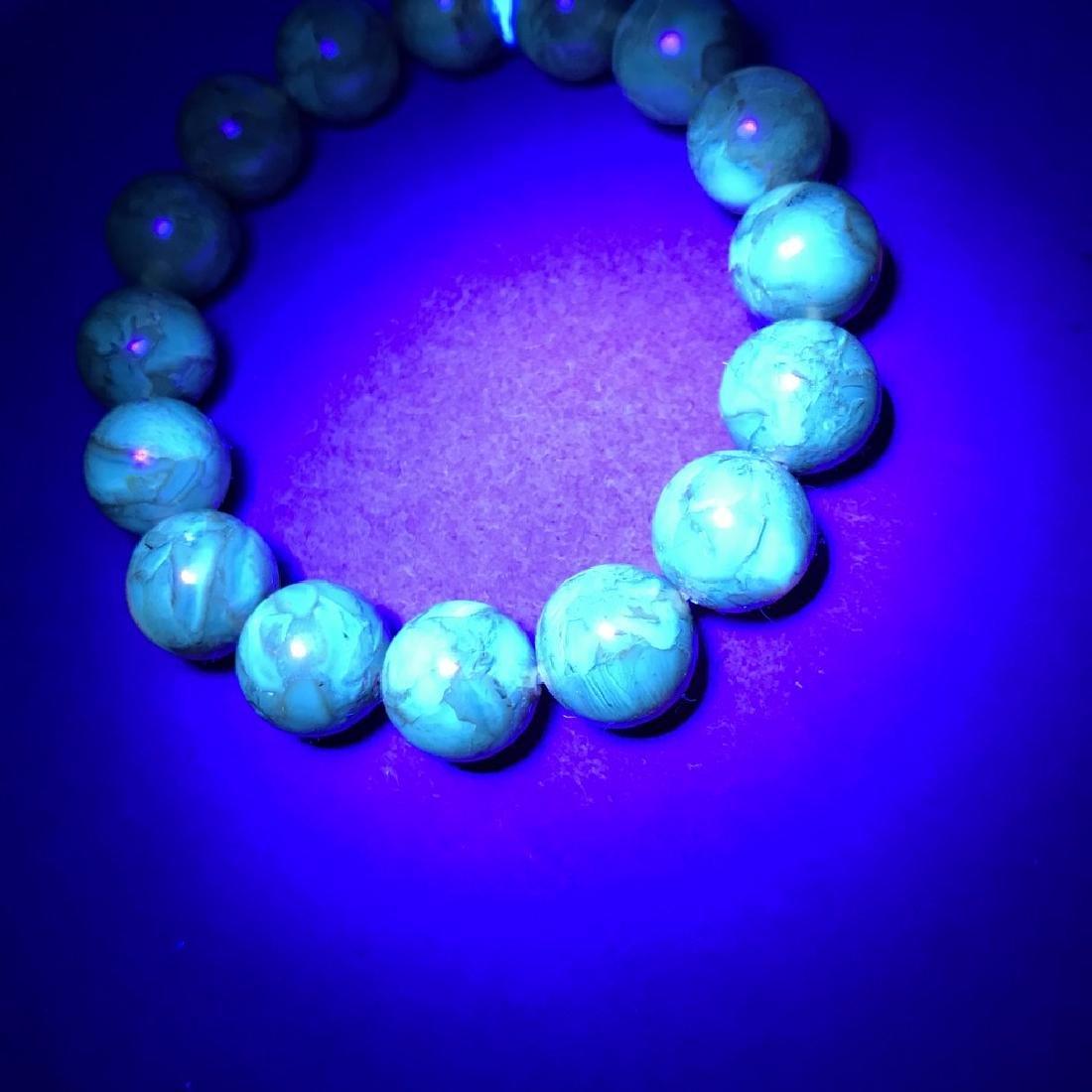 Baltic Amber Bracelet Cognac Marble Colour Beads - 7