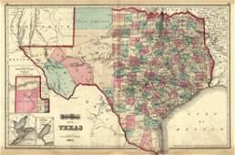 Gray's Atlas Map of Texas
