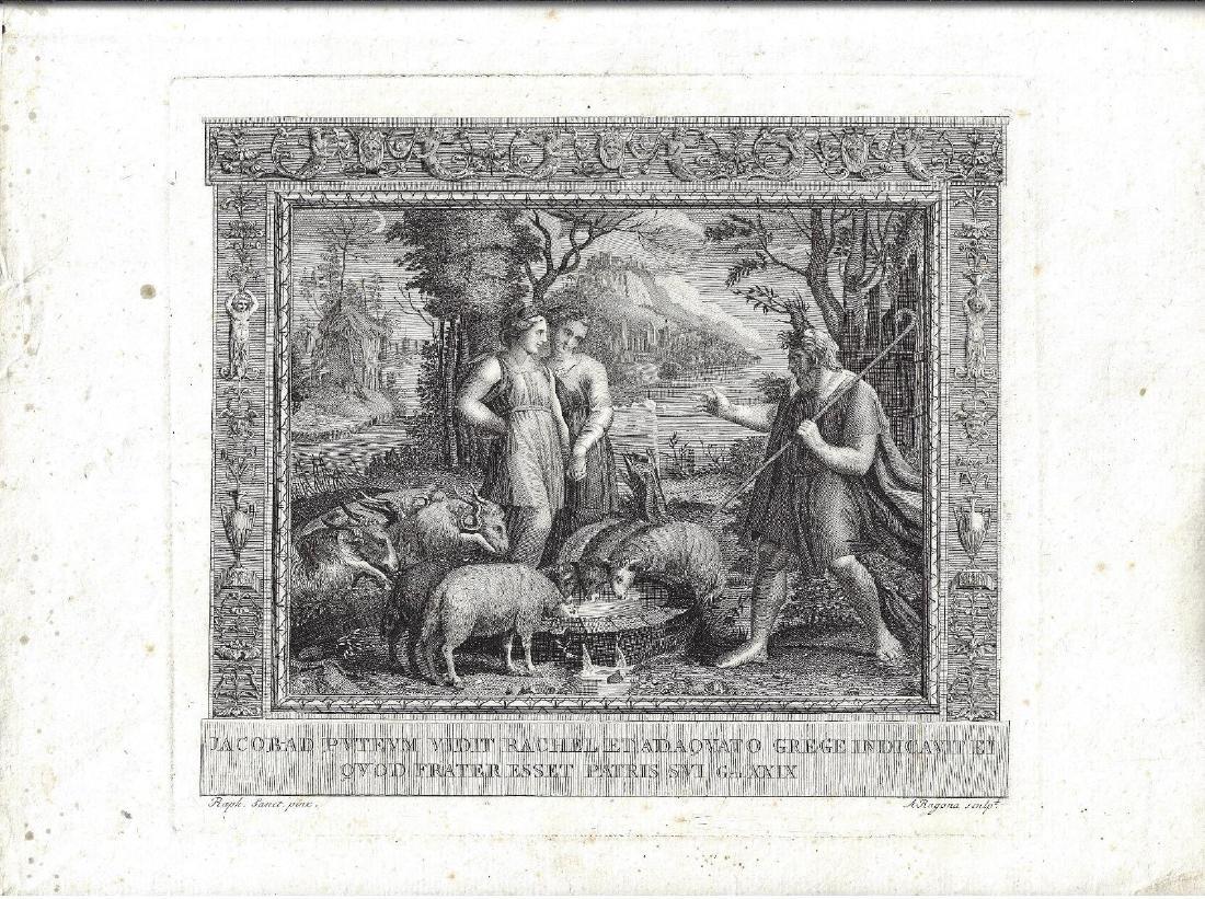 1680 Engraving Biblical Scene Ragona